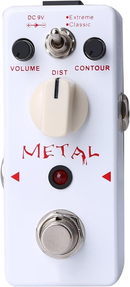 Pedal de efecto Heavy Metal de guitarra CAHAYA, Pedal de distorión ...