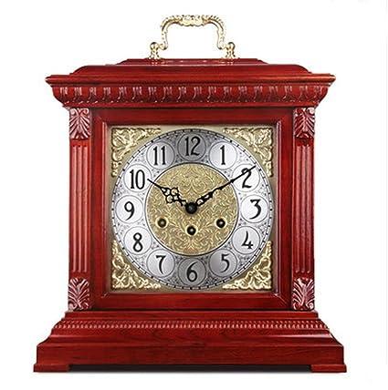 KHSKX Relojes europeos reloj antiguo mecánico salón decoración idea relojes reloj de campana madera german le