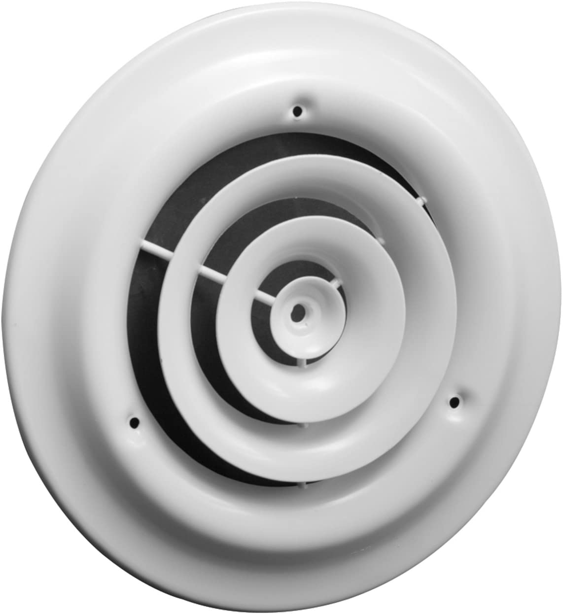 "10"" Round Ceiling Diffuser - Easy Air Flow - HVAC Duct [White] [Outer Dimensions: 14""]"