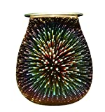 MASEN Electric Oil Warmer, Beautiful Glass Wax Tart Burner Starburst Night Light Aroma with 3D Effect for Gifts, Decor and Parties