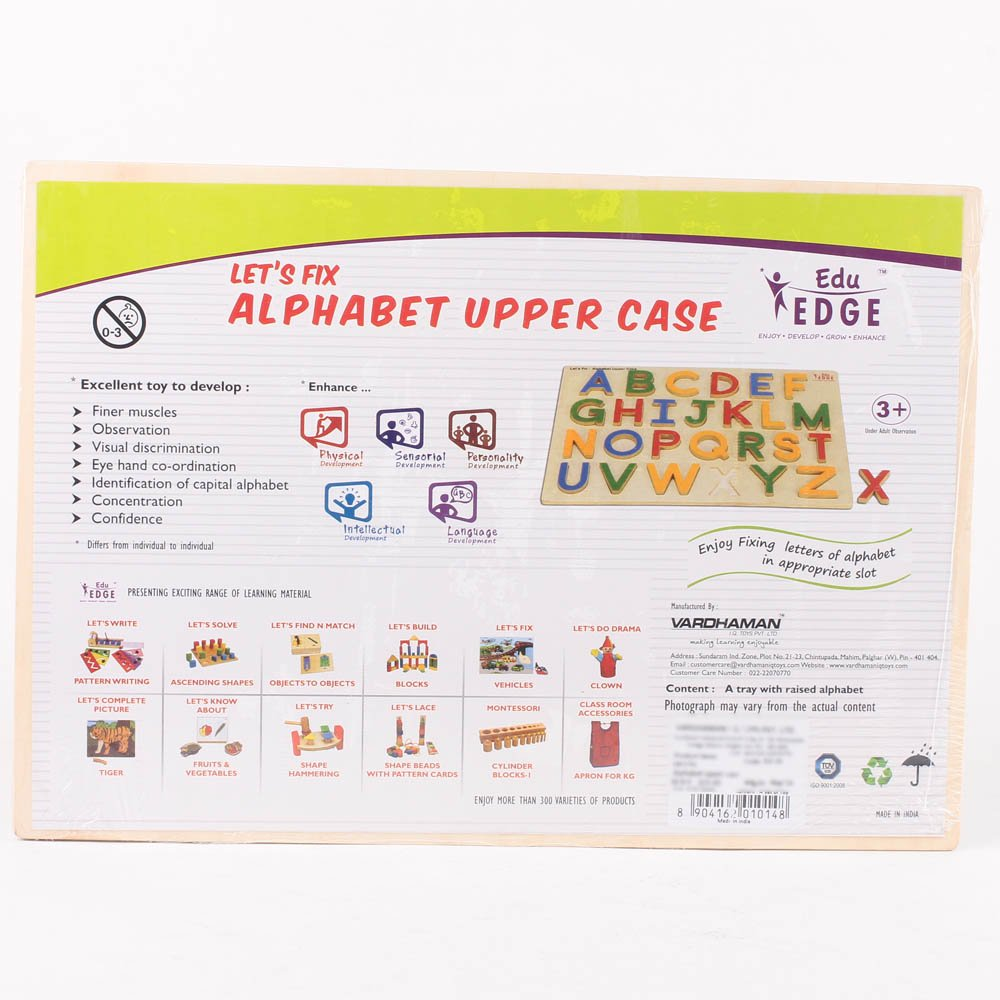 Eduedge Let'S Fix -Alphabet Upper Case
