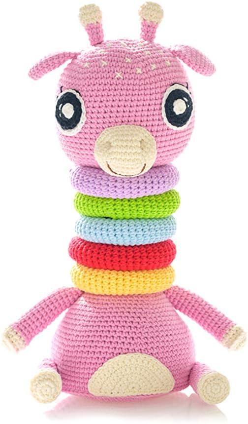 SSZZ Rompecabezas De Apilamiento Círculo Muñeca Tejido A Mano Paquete De Material De Bricolaje Principiantes Crochet Juguetes para Niños Kit Regalo Creativo,C