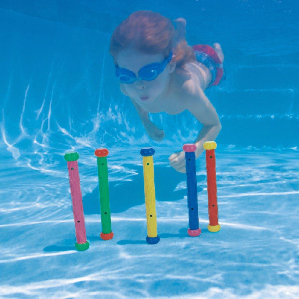 fd25d2cb51 Amazon.com: Intex Underwater Play Sticks by MfrPartNo 55504: Toys & Games