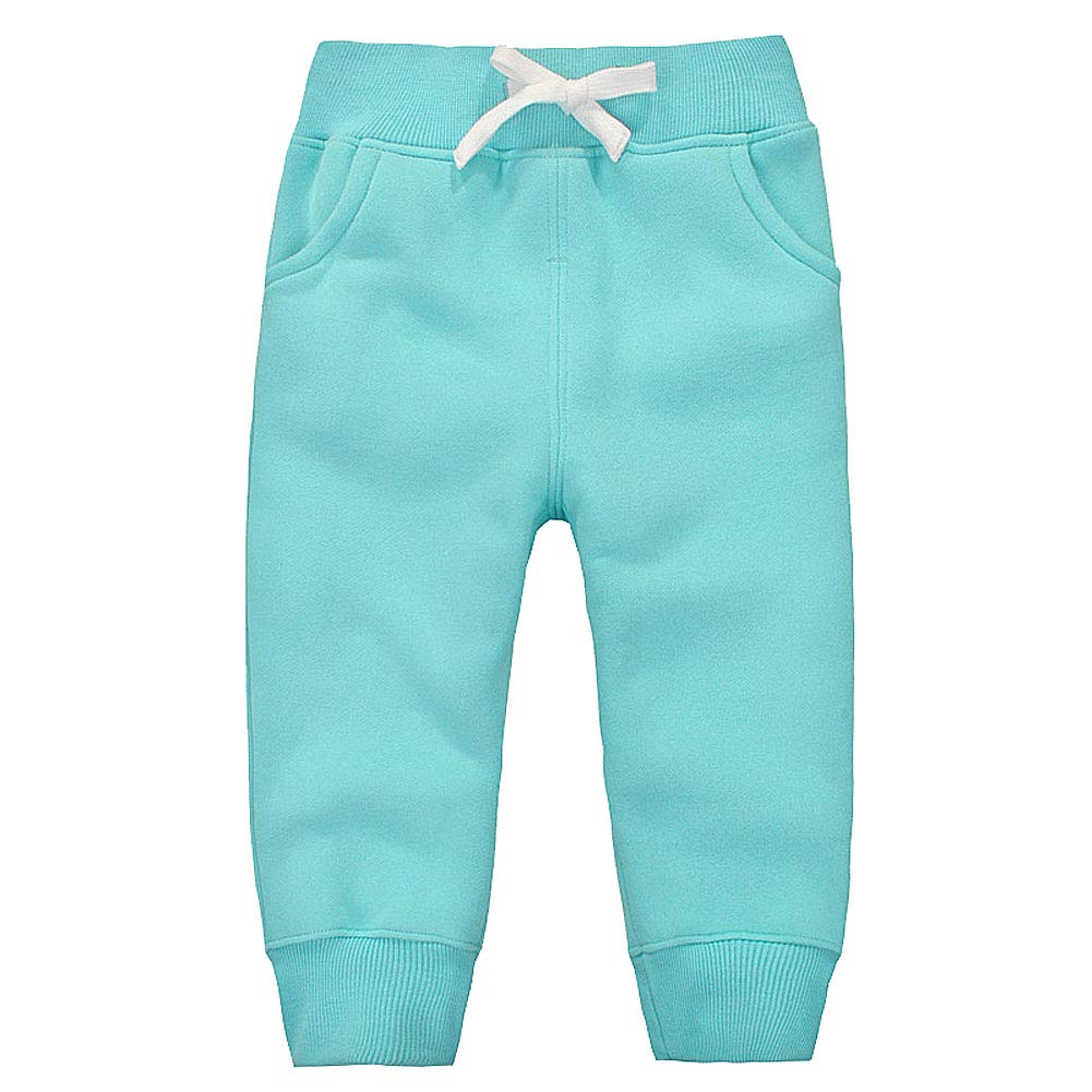 GGTFA Unisex Baby Boy Girl Kids Trousers Cotton Fleece Elastic Waist Sweatpant Winter Pants