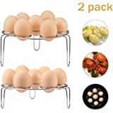 Syhonic 2 pack Egg Steamer Rack for Instant Pot and Pressure Cooker, Stainless Steel Multi-Purpose Steaming Rack