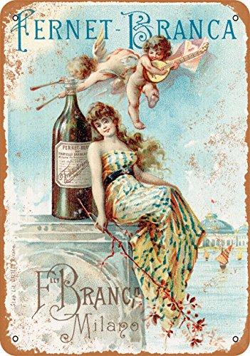 Wall-Color 7 x 10 METAL SIGN - 1889 Fernet-Branca Liqueur - Vintage Look Reproduction 2 Fernet Branca Liqueur