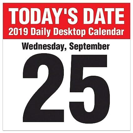 Calendar Date.Today S Date 2019 Daily Desk Boxed Calendar