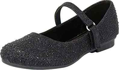 22a0026bc20 Cambridge Select Girls  Glitter Crystal Rhinestone Mary Jane Ballet Flat  (Toddler Little Kid