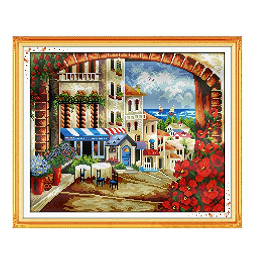 45*38cm Needlework DIY Cross Stitch Set Embroidery Kits Medi