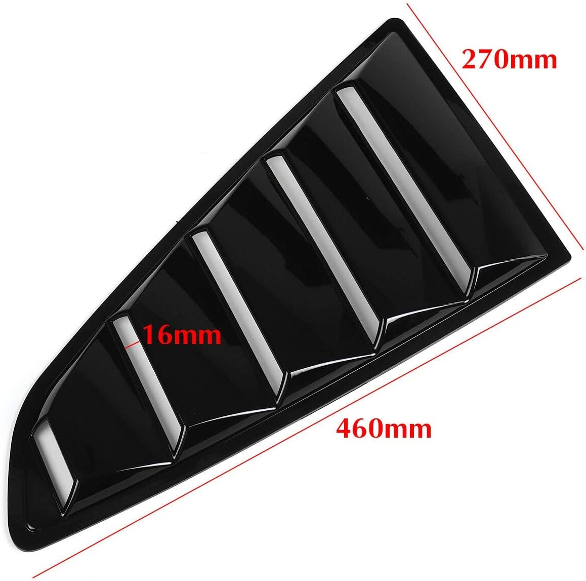 RKRCXH Side Window Louvers Cover 2X Rear Quarter Window Louvers Scoops Spoiler Car Styling Tunning Panel Side Air Vent Cover Sticker Fit For Ford Mustang 2015-2020