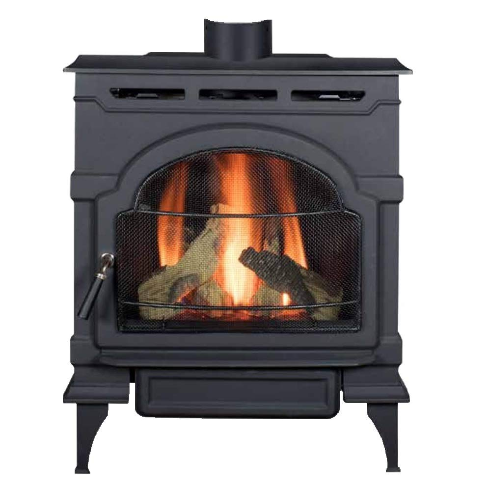 Majestic Oxford Direct Vent Gas Stove with Standing Pilot in Classic Black - NG by Majestic