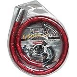 Cisne 2013, S.L. Candado Piton para Moto y Bicicleta Flexible con Llave Tubular de máxima Seguridad. Piton antirrobo. Tamaño 22x1000mm. Color Rojo.