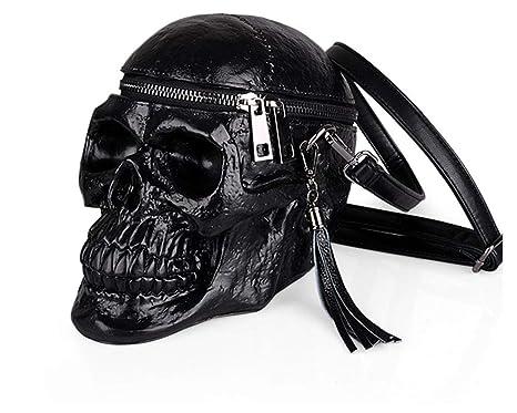 Amazon.com: Bolso de hombro con forma de calavera para mujer ...