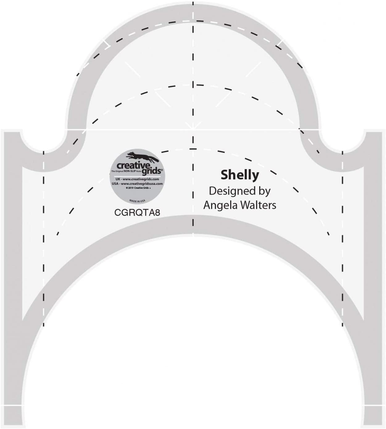 Creative Grids Machine Quilting Tool Ruler Template - Shelly