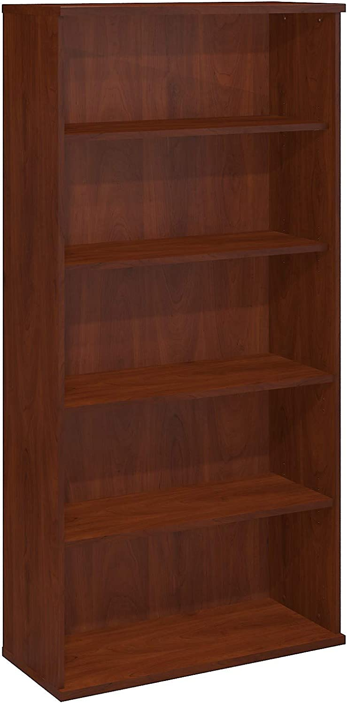 Bush Business Furniture 5 Shelf Bookcase, Hansen Cherry