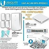 Ubiquiti UAP-AC-IW AP 802.11ac PRECONFIG 5Pk + US-8-150W Gigabit 8-Ports Switch