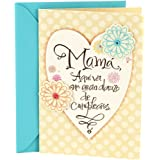 Hallmark Vida Spanish Birthday Greeting Card To Mother Heart With Flowers