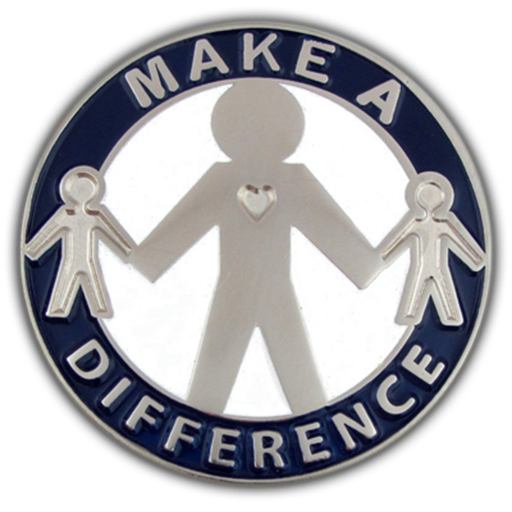 PinMart's Make a Difference Motivational Enamel Lapel Pin by PinMart