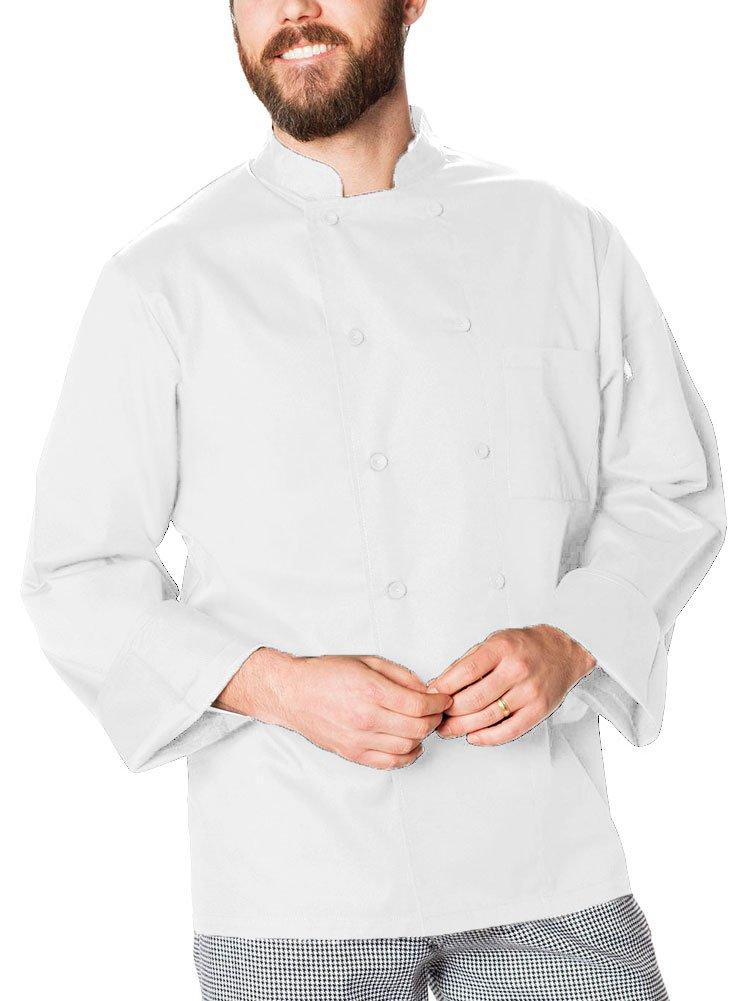 Dickies Chef Cool Breeze Long-Sleeve Coat, White, Medium