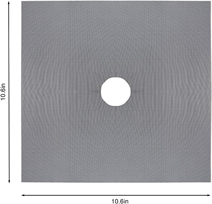LinTimes Cubierta reutilizable para fuegos de aluminio antiadherente
