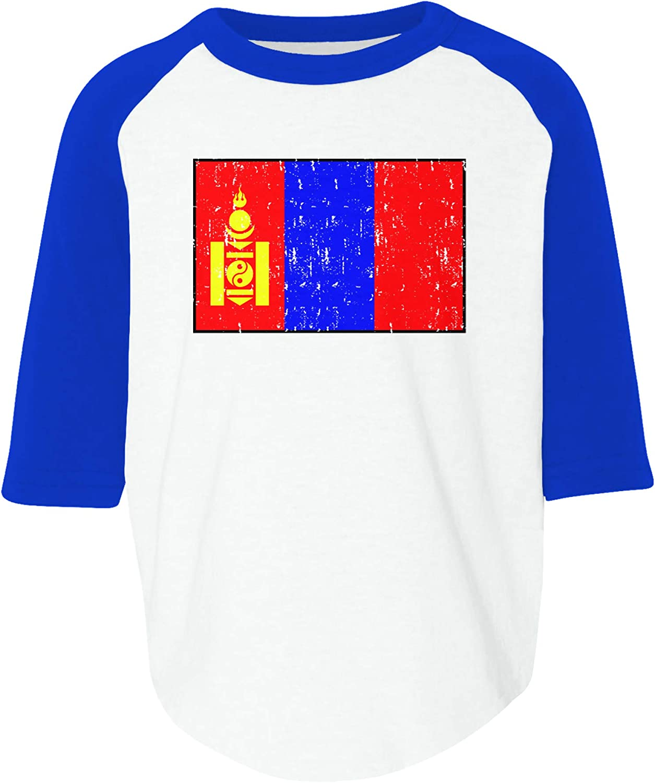 Amdesco Flag of Mongolia Mongolian Toddler Raglan Shirt