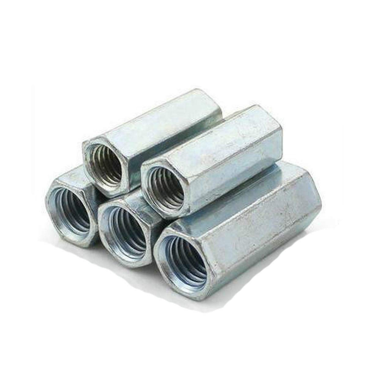 ees.Long Rod Coupling Hex Nut Connector Zinc Plated M8 x 1.25 x 66mm Stock 5pcs