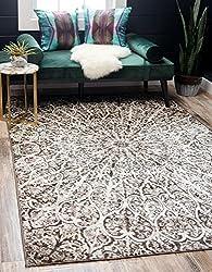 Unique Loom Sofia Collection Traditional Vintage Dark Gray Area Rug