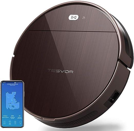 Robot aspirador Tesvor V300 con Wi-Fi, con tarjeta de estancia en ...