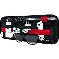 MUNTO Car Sun Visor Organizer Management Board Card Storage and Electronic Accessory Holder (Red&Black)