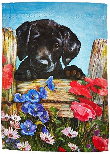 Carson Home Accents Garden Flag, Black Lab Puppy