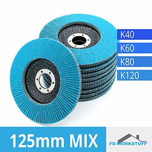 20 Fächerscheiben INOX blau Ø 115 mm Korn 80 Schleifscheiben Lamellenscheiben