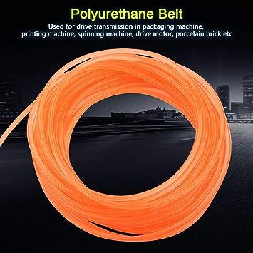 Orange lisse ronde polyuréthane Courroie 10 mm