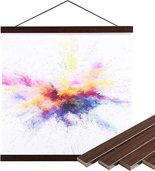 Poster Hanger Magnetic Wood Frame for Photo Canvas Art Prints Scroll Paintings