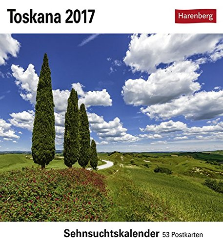 Toskana - Kalender 2017: Sehnsuchtskalender, 53 Postkarten