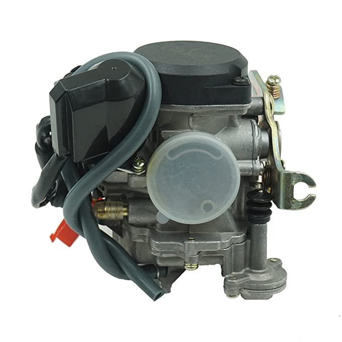 Glixal ATMT1-073-1 GY6 49cc 50cc 80cc 100cc 20mm Big Bore CVK Carburetor  with Electric Choke for Chinese Scooter Moped ATV Go Kart Quads Buggy  139QMB