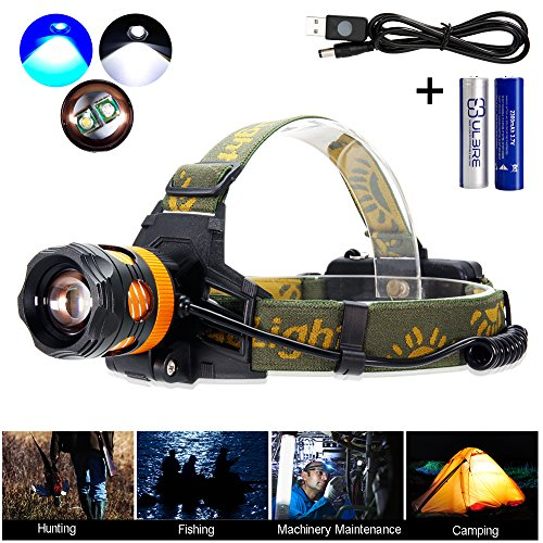Maketheone Headlamp LED Headlight Hands free Flashlight , Waterproof Head Lamps Torch for Camping Fishing Hiking Night Activities
