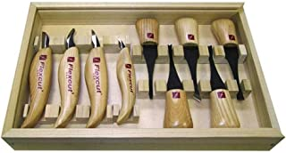 product image for Flexcut Carving Tools, Deluxe Palm & Knife Set, with 4 Carving Knives and 5 Palm Tools (KN700)