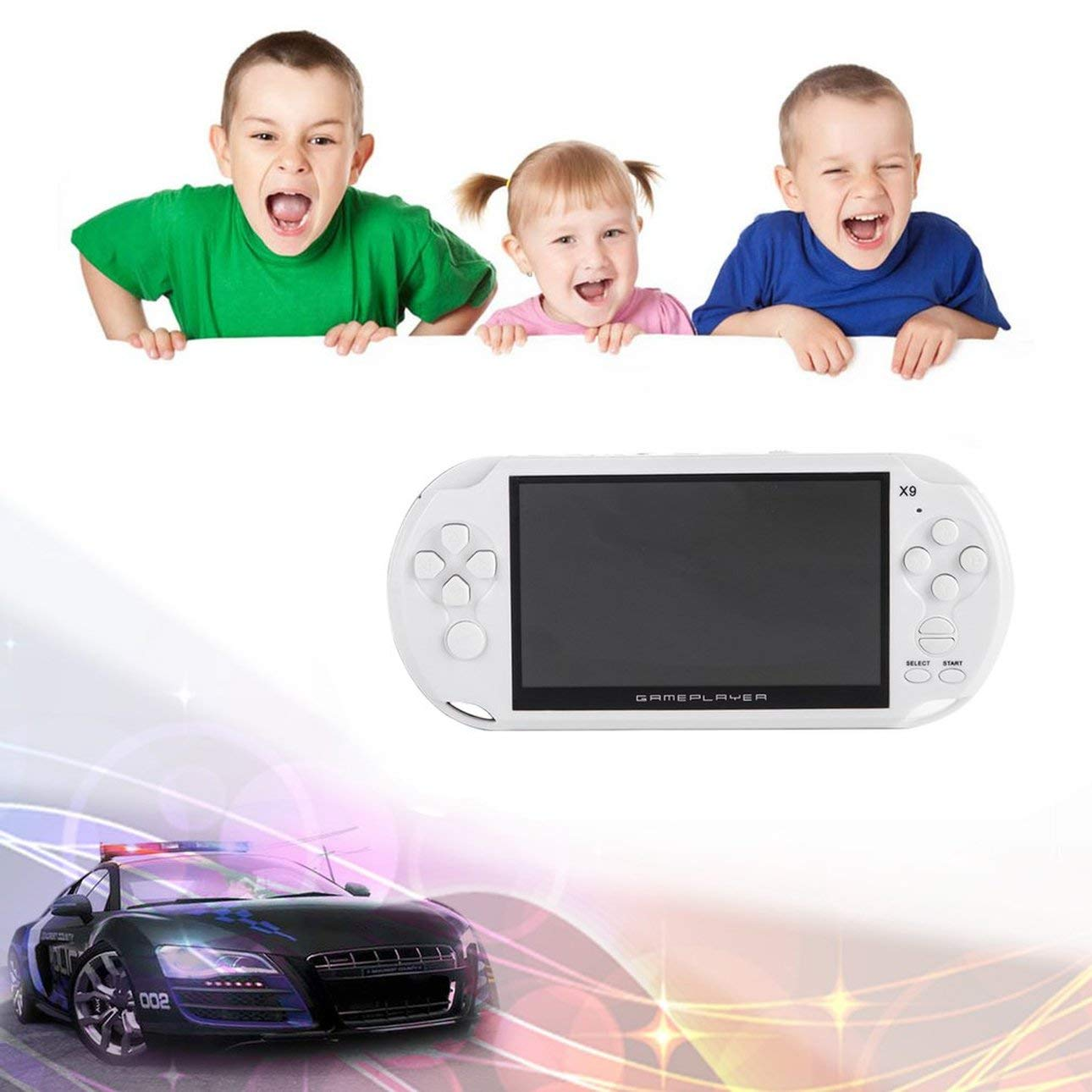 Smartlove1P Portable Size 5.0 Inch Large Screen 8GB Game Console Handheld Game Player MP3 Player Gamepad with Classic Games by Smartlove1P (Image #4)