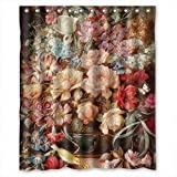 Monadicase Famous Classic Art Painting Flowers Blossoms Bath Curtains Polyester,best For Birthday,relatives,husband,family. Eco Friendly Width X Height / 60 X 72 Inches / W H 150 By 180 Cm(fabric)