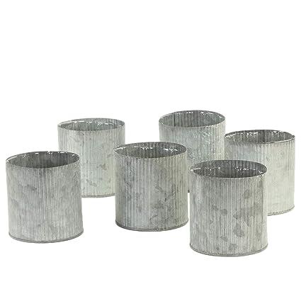 Amazon Koyal Wholesale Corrugated Zinc Cylinder Vases