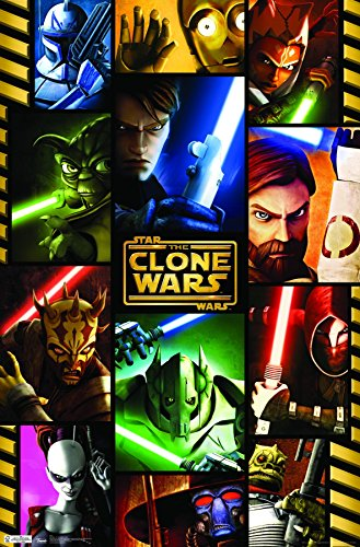 (Trends International Star Wars: The Clone Wars Grid Wall Poster 22.375