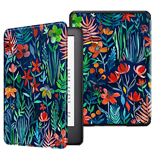 Fintie Slimshell Case for All-New Kindle (10th Generation, 2019 Release) - Lightweight Premium PU Leather Cover with Auto Sleep/Wake (NOT Fit Kindle Paperwhite or Kindle 8th Gen), Jungle Night ()