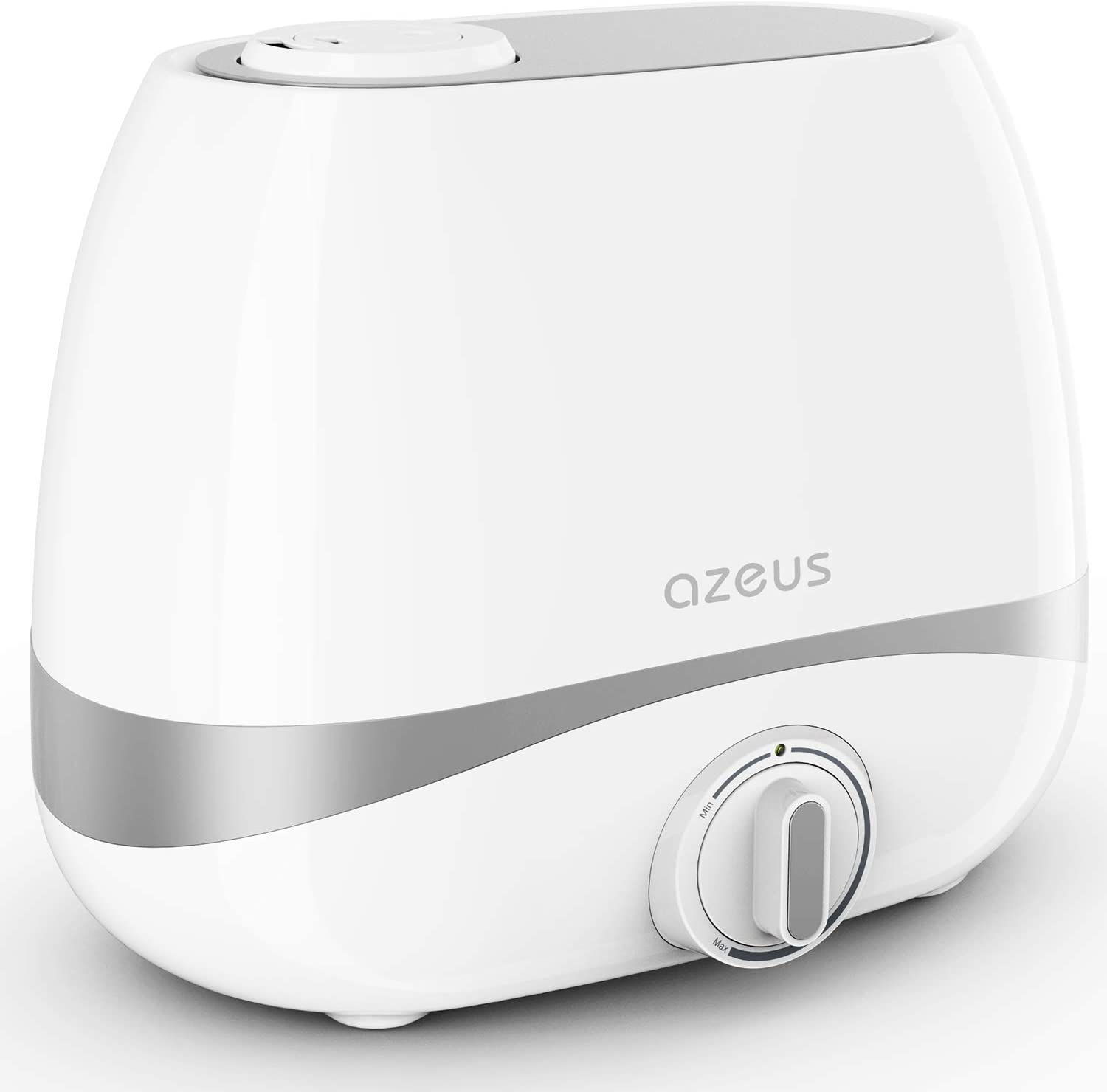 AZEUS Humidifiers for Large Room Bedroom, 5L Ultrasonic Cool Mist Humidifier with 250ML H Mist Output for Babies Nursery Home Office 215-377ft , 10-50 Hours, 360 Double Nozzle Vaporizer BPA Free