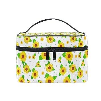 f18aeb172204 Cosmetic Bag Many Sunflower FlowersTravel Makeup Brush ...