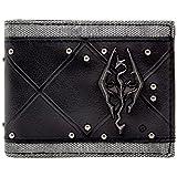 Bethesda Elder Scrolls 3D Skyrim Logo Black ID & Card Bi-Fold Wallet
