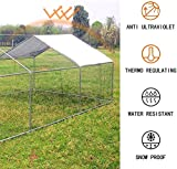 Large Chicken Coop Walk-in Metal Poultry Cage House