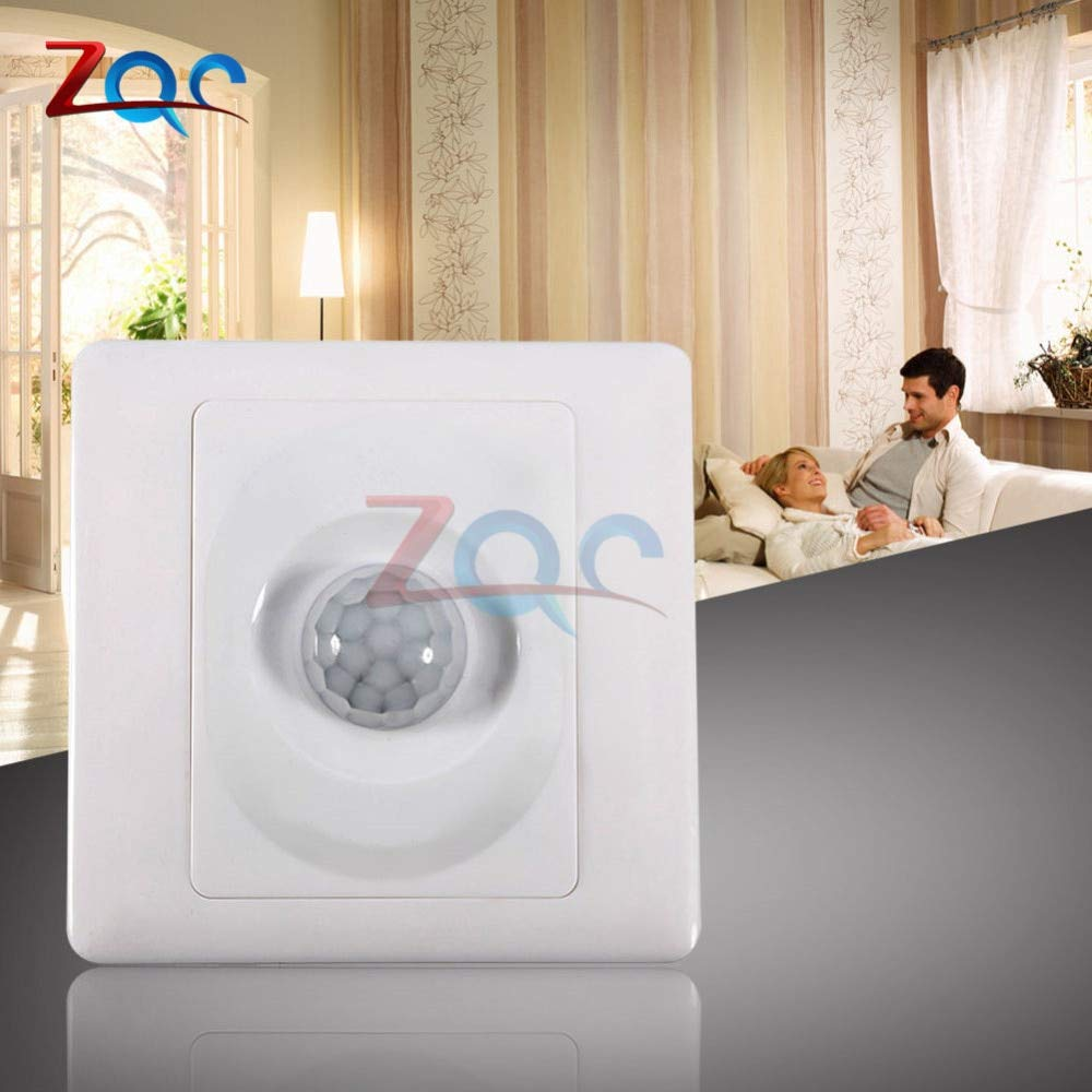 2Pcs 220V IR Infrared Body Motion Sensor Automatic LED Light Lamp Control Switch
