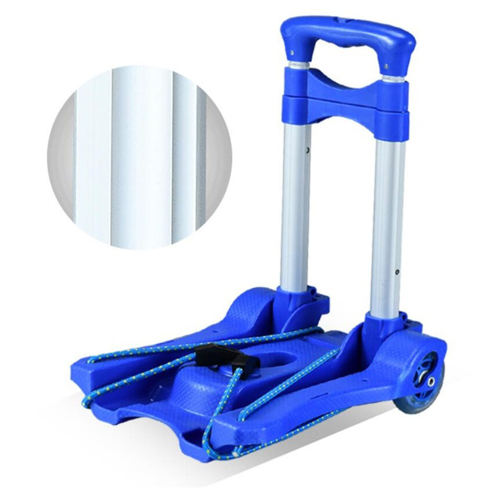 ELEGENCE-Z Trolley Truck Foldable, Aluminum Alloy Rod PU Wheel Mute Wearable Portable Folding Rod Shopping Cart