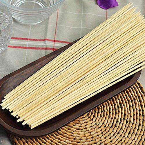 Parrilla 4s-home brochetas de bambú Shish Kabob Madera Sticks para barbacoa Herramientas