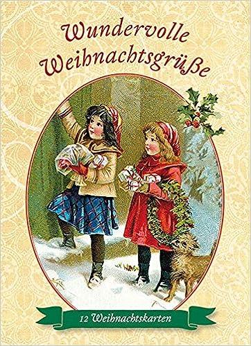 Wundervolle Weihnachtsgr/ü/ße 12 Weihnachtskarten